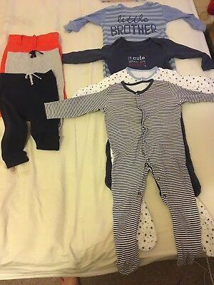 Baby Boys 9-12 Months Bundle Of 7 Items
