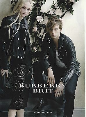 2014 Jamie Campbell for Burberry Brit designer fashions print ad
