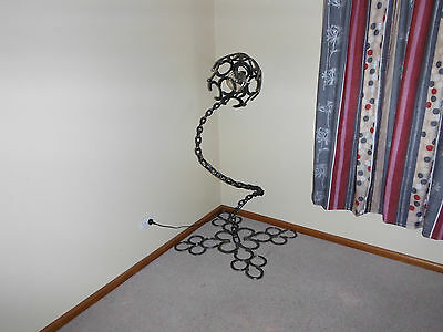 metal lamp art horseshoe