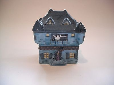 Peint Main Limoges Trinket-Haunted House
