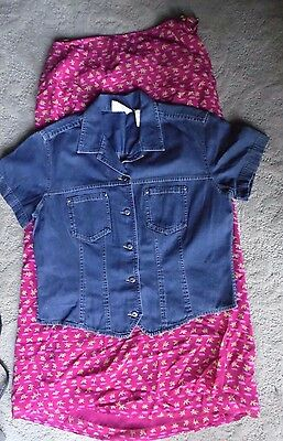 Liz Claiborne & Sigrid Olsen  lot of 2 womens NWT denim sz M button front skirt