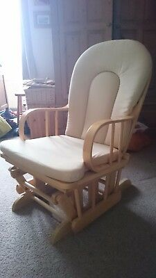 wooden gliding rocking chair in good condition
