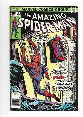 Amazing Spider-Man # 160  Spidey vs the Spider-Mobile !  7.5  scarce book !