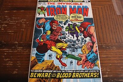 Iron Man #55 VG/F 1973 OW/W Pages First Thanos and Drax!!