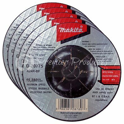 Makita 5 Pack - 4 Inch Grinding Wheel For Grinders - Aggressive Grinding For ...