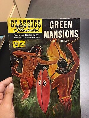 Classics Illustrated  #90  Green Mansions   Hrn 167  Silver-Age  1966