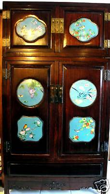 Antique Cloisonne Chinese Cabinet