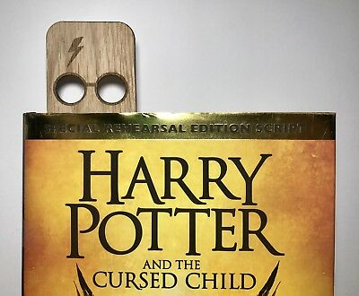 Harry Potter Glasses Wooden Bookmark Great Gift Present Gryffindor J K Rowling