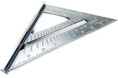 "7"" Aluminium Roofing Rafter Speed Square Angle Measure Triangle Guide Tool WW023"