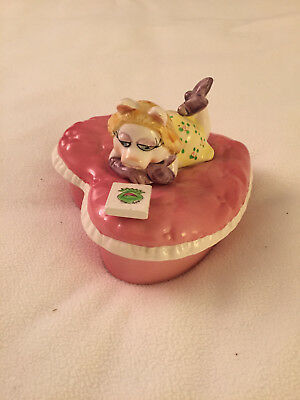 Sigma Ceramic Miss Piggy Heart-Shaped Trinket Box Muppet Collection
