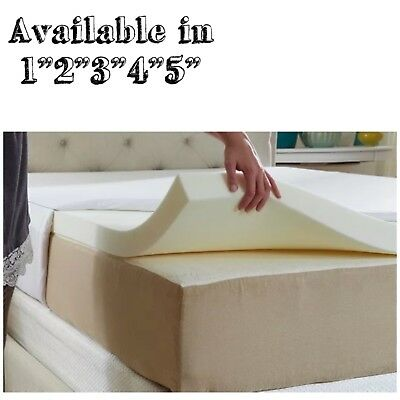 100% Memory Foam Mattress Topper Available in All Sizes And Depths