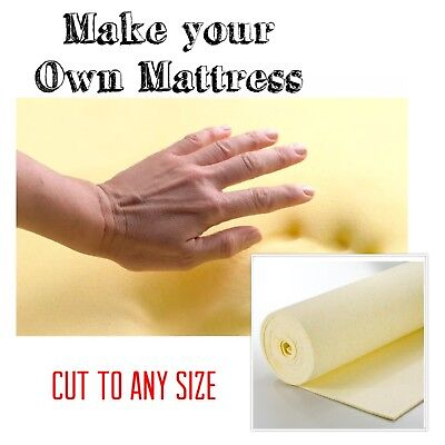 100 % Memory Foam Mattress Topper Cut to any size Make your own Mattress Toppers