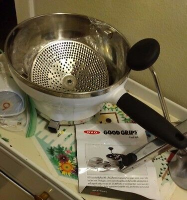 """Oxo """"good Grip"""" Food Mill, Great Condition, 2.3 Qt."""