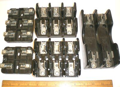 5 Fuse Holders, 600V, 30 Amps, 3-3Pole, 1-2 Pole, Marathon & Others Made in USA