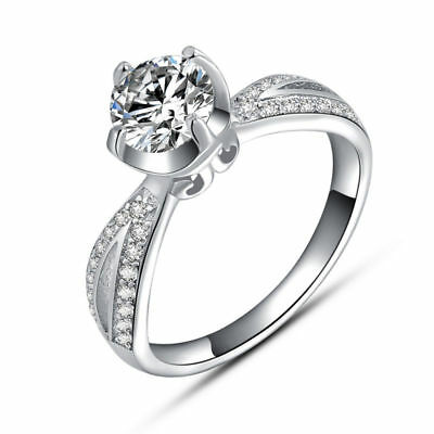 Stunning1.5ctw CZ Cubic Zirconia Classic Solitaire Engagement Wedding Ring size9