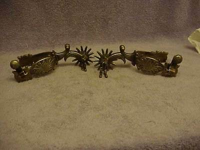 Vintage E. Garcia California Style Spurs 14 Point Rowels Never Used Free Ship