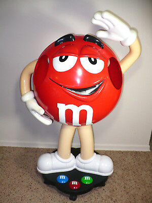 """38"""" Tall """"red M & M Candy"""" Retail Store Display Figure Collectible - L@@k!!!"""