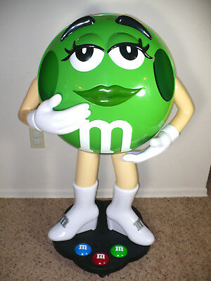 """38"""" Tall """"green M & M Candy"""" Retail Store Display Figure Collectible - L@@k!!!"""