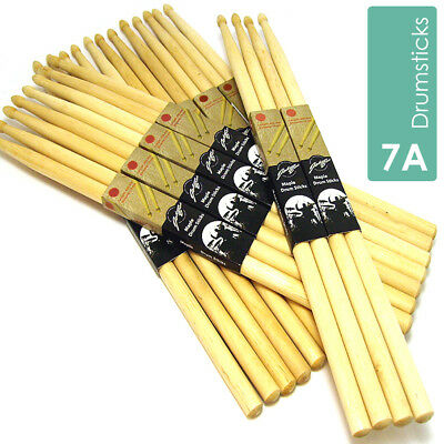 7A Drum Sticks Drumsticks Maple High Quality Wood Tip Trade Pack Bulk listing