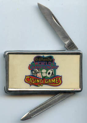 "HTF ""Sands Casino World Championship Casino Games"" Money Clip and Knife"