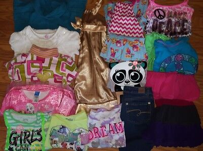 HUGE lot of girl clothes size 10 12 10/12 JUSTICE The Childrens Place +++ School