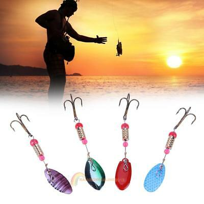 4pcs/set 13g Colorful Trout Spoon Metal Fishing Lures Spinner Baits Bass Tackle