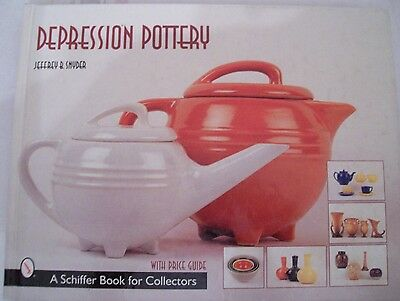 DEPRESSION POTTERY Price Guide Collectors BOOK Plates Pitcher Bowls
