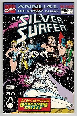 Silver Surfer Annual #4 (1991 Marvel) Guardians of the Galaxy! VF 8.0