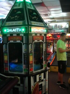 Galactix 6 Player Arcade Redemption Ticket Game On Location Working 100%