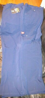 dickies women's scrub lot- 2 pairs. Both new with tags. size medium. navy blue