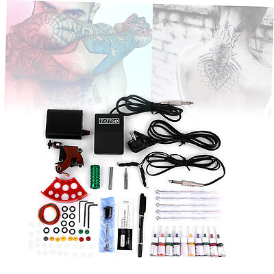 Machine Gun Power Needles Ink Set Complete Tattoo Equipment Kit BFC