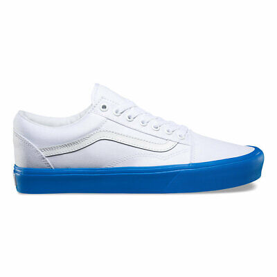 VANS OLD SKOOL LITE TRUE WHITE / BLUE  (Pop Sole) old school VN-0Z5WN5V
