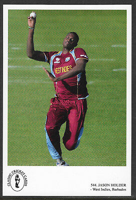 JASON HOLDER (West Indies, Barbados) CLASSIC CRICKET POSTCARD No.544