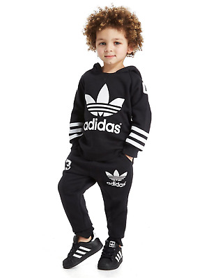 Adidas Baby Kids Boys Toddler Tracksuit Set Cotton Hooded New Age 9-12 Month