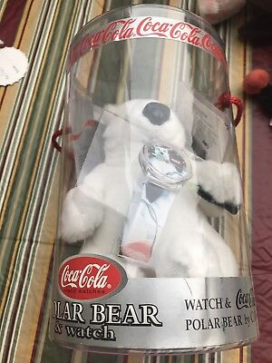 Coca Cola Polar Bear with Watch 1999 100 years of coke LE