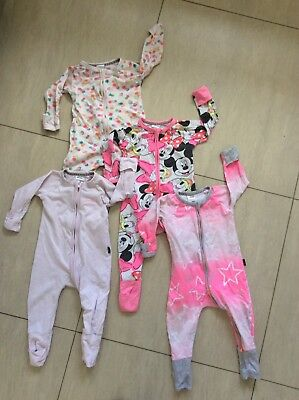 Bonds zippies size 0 girls bundle
