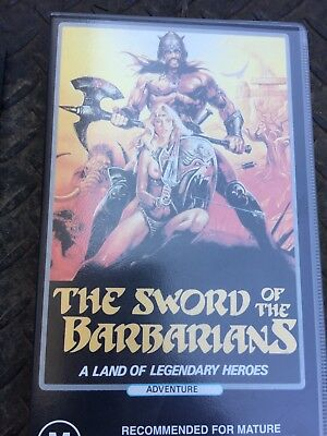 VHS Movie. The Sword Of The Barbarians