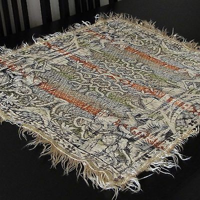 Old Textile Ottoman Antique Islamique Orientaliste Tissue Tapis De Table Soie