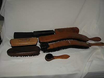 8 Vintage Wood Shoe Shine Some are Horse Hair Blend Brushes Advertising