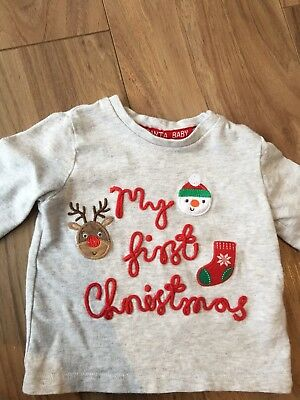 My First Christmas Top 3-6 Months