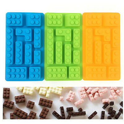 New Building Bricks Silicone Ice Cube Tray Candy Chocolate  Shape Baking Mould