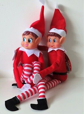 Christmas Elf Dolls Elves Novelty Red Xmas Doll Naughty Nice Boy Girl Advent Fun