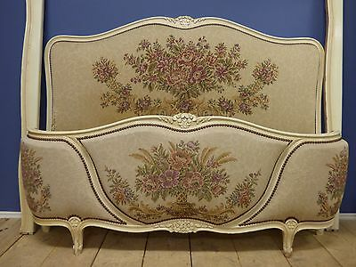 Antique French Tapestry King Size Bed - g137