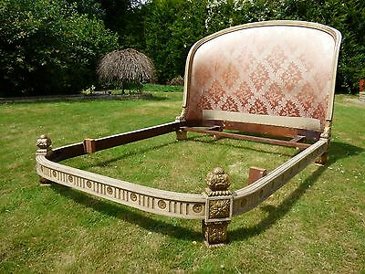 Very Impressive Antique French Double Bed - ha02
