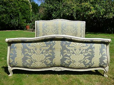 Antique French King Size Bed - Scroll / Rolled End Style - 160cm Wide - ha27