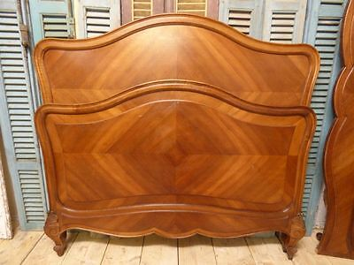 Impressive Antique  Double French Bed - Great Detail - tr11