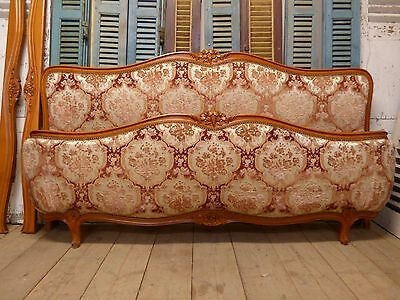 LOVELY VINTAGE FRENCH EMPEROR SIZE BED - JUST IN - 2m wide - fd118