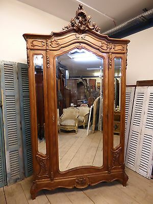 Antique French Bookcase - French Armoire - fd52