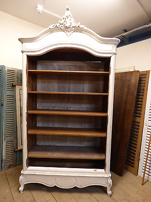 Lovely Shabby Chic Antique Bookcase / Armoire - fd176