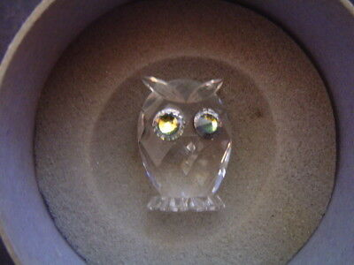 Beautiful Swarovski Crystal Owl Figurine With Original Box & Packaging